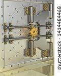 front view of light gold bank... | Shutterstock . vector #1414484468