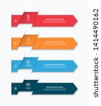 infographic template with 4... | Shutterstock .eps vector #1414490162