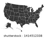 united states of america map .... | Shutterstock .eps vector #1414512338