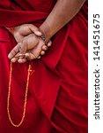 tibetan buddhism   prayer beads ... | Shutterstock . vector #141451675