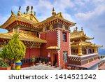 thrangu tashi yangtse monastery in namo buddha, dhulikhel, nepal