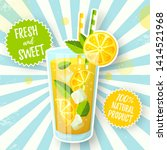 banner with lemonade. vector... | Shutterstock .eps vector #1414521968