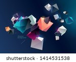 3d multicolored pyramids on... | Shutterstock .eps vector #1414531538