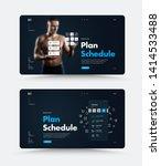 black vector web page design... | Shutterstock .eps vector #1414533488