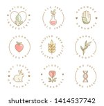 set of eco product logos ...   Shutterstock .eps vector #1414537742