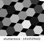 semi transparent hexagon... | Shutterstock .eps vector #1414539602