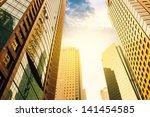 modern office building in... | Shutterstock . vector #141454585