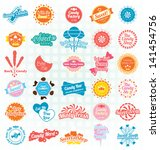 vector set  candy sweets labels ... | Shutterstock .eps vector #141454756