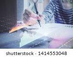 financial forex graph drawn... | Shutterstock . vector #1414553048