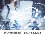 multi exposure of woman's... | Shutterstock . vector #1414553285
