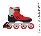 roller skates isolated on white ... | Shutterstock .eps vector #1414553828