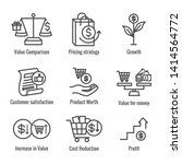 competitive pricing icon set... | Shutterstock .eps vector #1414564772