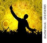 festival. crowd of dancing... | Shutterstock . vector #141456985