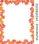 autumn leaves border  on white... | Shutterstock . vector #1414583252