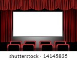 panoramic movie theater with... | Shutterstock . vector #14145835