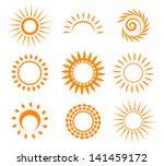 symbolic sun set. vector... | Shutterstock .eps vector #141459172