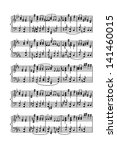 Sheet Of Music Stave Notes On ...