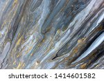 blue marbling pattern. golden... | Shutterstock . vector #1414601582