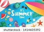 it's summer time vector banner... | Shutterstock .eps vector #1414605392