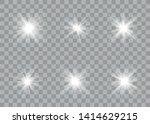 glowing lights effect. star... | Shutterstock .eps vector #1414629215