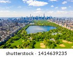 Aerial View Of The Central Park ...
