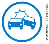 car accident icon. clipart... | Shutterstock . vector #1414644488