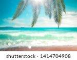 blurred summer background of... | Shutterstock . vector #1414704908