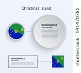christmas island country set of ...