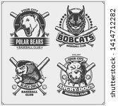 set of baseball emblems  badges ... | Shutterstock .eps vector #1414712282