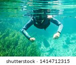 girl snorkeling at sucuri river ... | Shutterstock . vector #1414712315