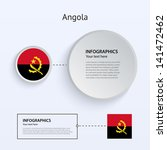 angola country set of banners...