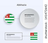 abkhazia country set of banners ...