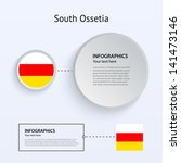 south ossetia country set of...