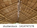 Small photo of Structure of bamboo huts. Bamboo hut. Bamboo huts for living. The part of the roof is made of bamboo.