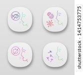 allergies app icons set. food ...