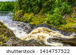 forest wild river rapid view.... | Shutterstock . vector #1414757522