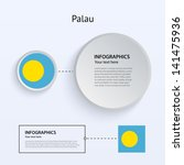 palau country set of banners on ...