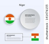 niger country set of banners on ...