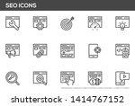 seo vector line icons set.... | Shutterstock .eps vector #1414767152