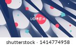 3d abstract background with... | Shutterstock .eps vector #1414774958
