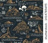vector seamless background on... | Shutterstock .eps vector #1414785695