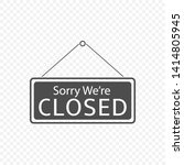 sorry we're closed hanging sign ... | Shutterstock .eps vector #1414805945