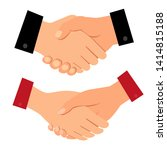 men and women shake hands on a... | Shutterstock .eps vector #1414815188