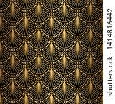 art deco pattern. seamless... | Shutterstock .eps vector #1414816442