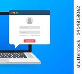 sign in to account  user... | Shutterstock .eps vector #1414818062