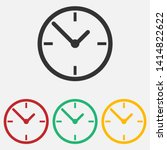 clock icon isolated on white... | Shutterstock .eps vector #1414822622