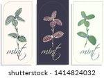 vector set of postcards...   Shutterstock .eps vector #1414824032