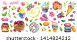 watercolor sweets collection ... | Shutterstock . vector #1414824212