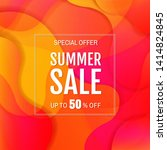 sale banner with colorful... | Shutterstock .eps vector #1414824845