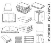 vector set of black sketch...   Shutterstock .eps vector #1414830425